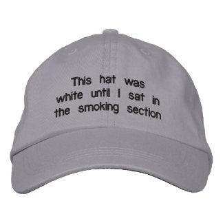 """De """"chapéu ajustável da seção fumo"""" boné"""