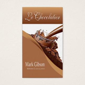 """De """"chocolates do gourmet Le Chocolatier"""" -, doces Cartão De Visitas"""