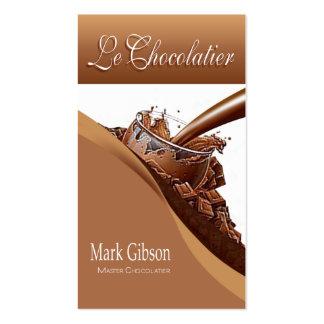 De chocolates do gourmet Le Chocolatier - doces Modelos Cartao De Visita