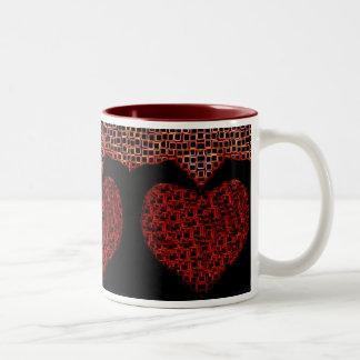 """De """"copo de café dos corações sangramento"""" por caneca dois tons"""