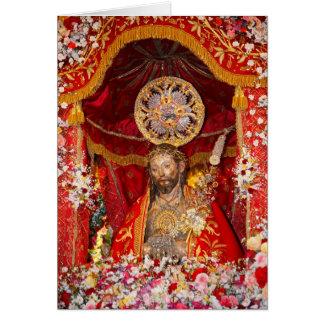 """De """"dos Milagres Senhor Santo Cristo """" Cartão"""
