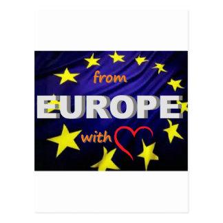 de Europa com amor Cartao Postal