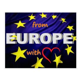 de Europa com amor Cartão Postal