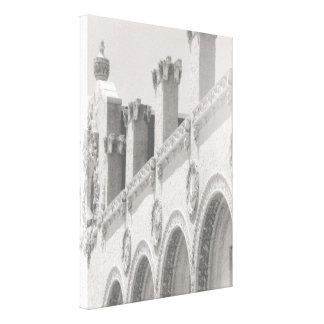 """De """"impressão das canvas da fachada do restaurante"""