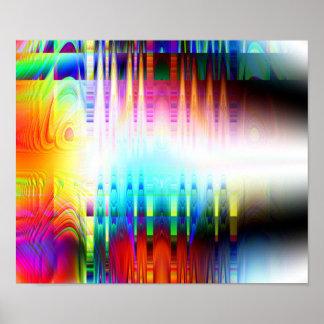 """De """"impressão do poster da arte abstracta do prato"""