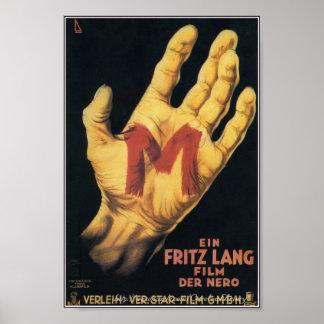"""De """"m"""" do clássico poster 1931 de filme de terror"""