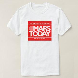 De Marte gráfico engraçado do SciFi do jornal hoje Tshirt
