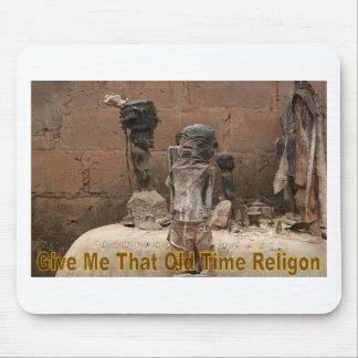 Dê-me que religião velha do tempo mouse pad