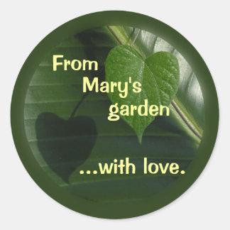 De minha etiqueta do jardim a personalizar adesivo