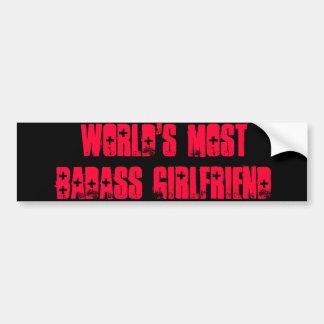 De namorada do Badass do mundo a maioria Adesivo Para Carro