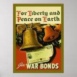 Dê o poster do vintage WW2 do ~ das ligações de gu