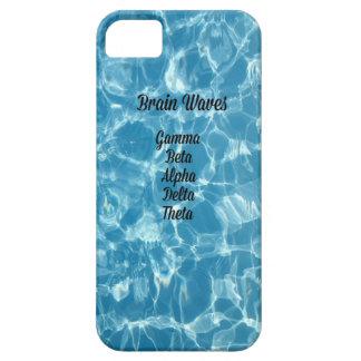 """De """"ondas cérebro onduladas azuis raras """" capas para iPhone 5"""