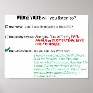 De quem voz: Crucified com cristo Poster