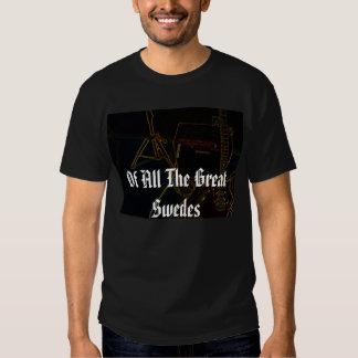 De todos os grandes suecos - guitarra reversa - t-shirts