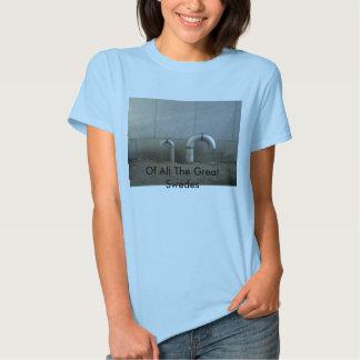 De todos os grandes suecos - tubulações - mulheres t-shirt