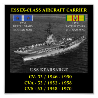 DE USS KEARSARGE POSTER CV/CVA/CVS-33