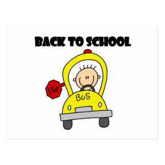 De volta à escola cartão postal