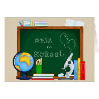 De volta à ilustração da escola cartão comemorativo