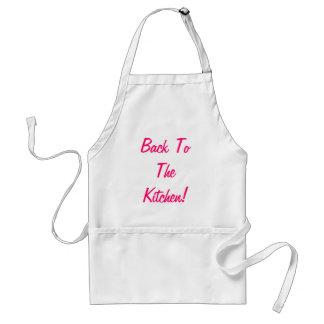 De volta ao avental da cozinha