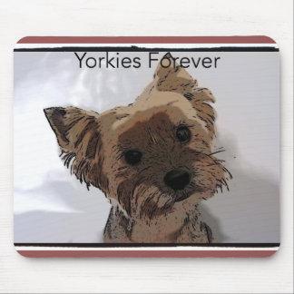De Yorkies mousepad para sempre