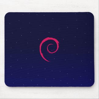 Debian com um fundo do espaço mouse pad