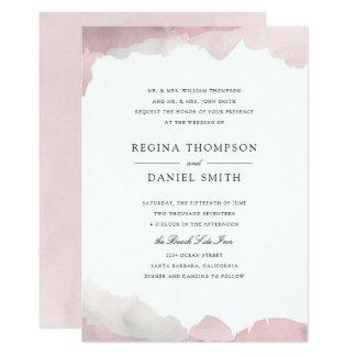 Debonair cora o convite cor-de-rosa do casamento