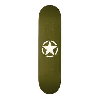 Decalque do jipe do vintage do estêncil da estrela shape de skate 20,6cm
