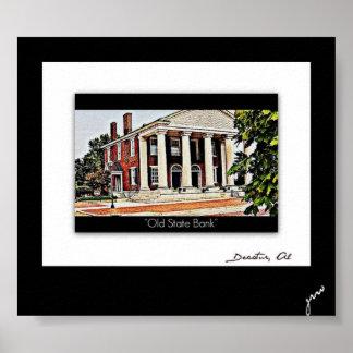 Decatur histórico, Alabama Poster