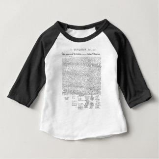 Declaração de independência camiseta para bebê