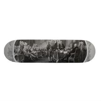 Declaração de independência gravada John Trumbull Shape De Skate 21,6cm