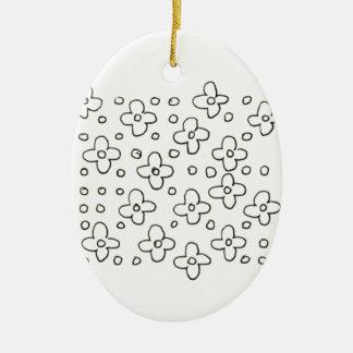 Decoração acrílica do vintage ornamento de cerâmica oval