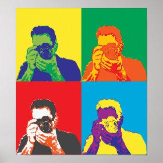 Decoração brilhante da câmera do fotógrafo das poster