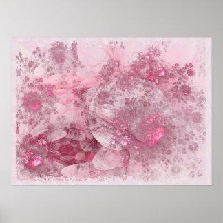 Decoração do abstrato do dia das flores pôster