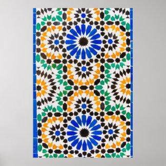 Decoração do azulejo no palácio de Baía Poster