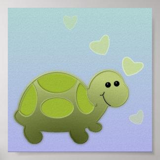 Decoração do berçário da tartaruga do bebê poster