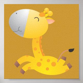 Decoração do berçário do Giraffe/do bebê Poster