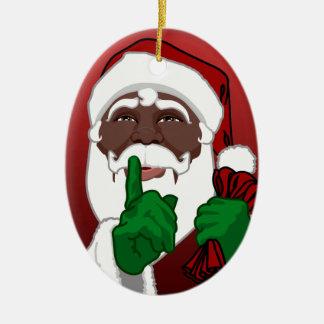 Decoração feita sob encomenda do Natal do Ornamento De Cerâmica Oval