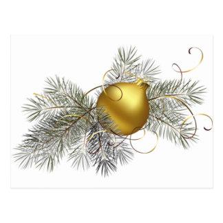 Decoração festiva do ouro cartão postal