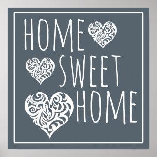 Decoração Home doce Home Poster