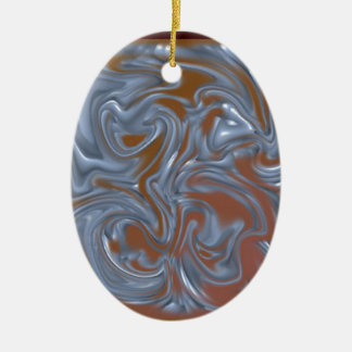 Decoração Ornamento De Cerâmica Oval