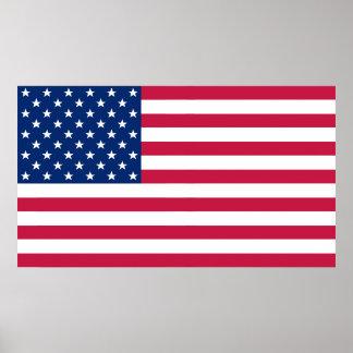 Decoração patriótica E.U. do escritório Poster
