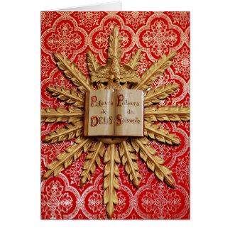 Decorações da igreja Católica Cartão Comemorativo
