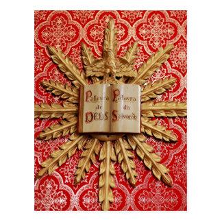 Decorações da igreja Católica Cartão Postal