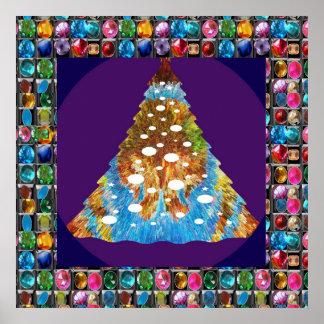 Decorações decorativas: Base roxa santamente Poster