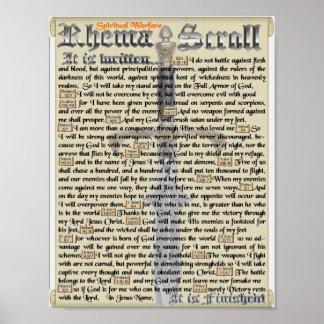 Decorações espirituais de Warfarewall Poster