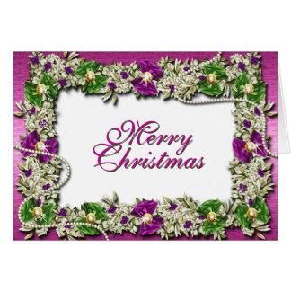 """Decorações festivas do """"Feliz Natal"""" Cartão Comemorativo"""