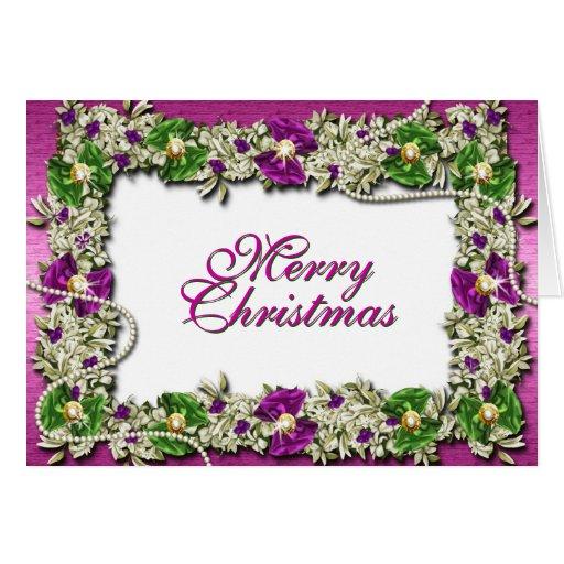 """Decorações festivas do """"Feliz Natal"""" Cartao"""
