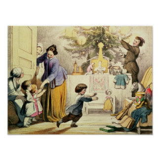 Decorando a árvore de Natal Poster