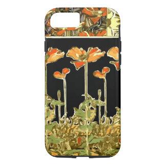 Decoratifs (flores alaranjadas) por Alphonse Mucha Capa iPhone 8/7