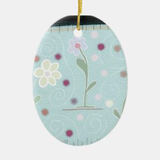 Decorazione Natalizia Ornamento De Cerâmica Oval